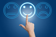 Smiling button Royalty Free Stock Images