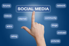 Social Media button Stock Photos