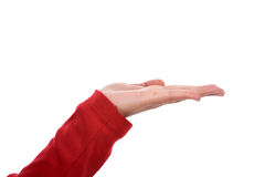 Woman hand with red shirt Stock Photography