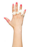 Woman hand with rings Stock Images