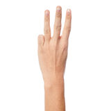 Woman hand showing three count royalty free stock photography
