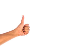 Woman hand showing thumbs up Stock Image