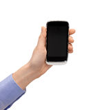 Woman hand with smartphone Royalty Free Stock Image