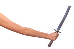 Woman hand and  sword. Stock Photography