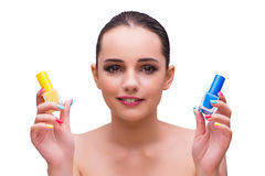 The woman in hand treatment manicure concept Royalty Free Stock Photography