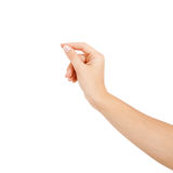 Woman hand on white backgrounds Stock Photography