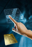 Woman Hand With A Gold Credit Card Royalty Free Stock Images