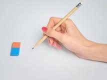 Woman hand write Royalty Free Stock Photos