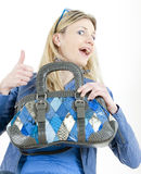Woman with handbag Stock Photo