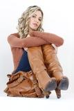 Woman with a handbag Stock Image