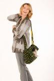 Woman with handbag Royalty Free Stock Photography