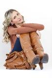 Woman with a handbag Royalty Free Stock Photos