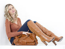 Woman with a handbag Stock Image