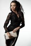 Woman with handbag Royalty Free Stock Photos