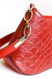 Woman handbag. Red with details Royalty Free Stock Images