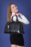 Woman with a handbag Stock Photo