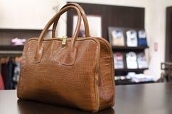 Woman handbag. In a fashion store Stock Photos