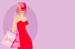Woman with handbags Stock Photo