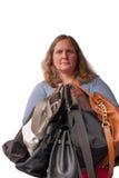 Woman and handbags Royalty Free Stock Image
