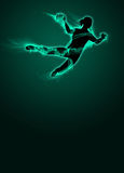 Woman handball background Stock Photos