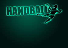 Woman handball background Stock Images