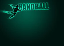 Woman handball background Royalty Free Stock Photos