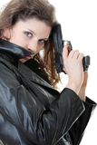 Woman With Handgun Royalty Free Stock Photo