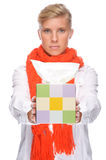 Woman with handkerchief Stock Photography
