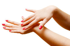 Woman hands Royalty Free Stock Image