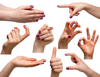 Woman hands Royalty Free Stock Photos