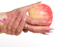Woman hands with apple Royalty Free Stock Photo