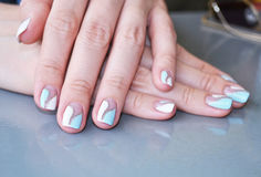 Woman hands with beautiful manicure Stock Photography