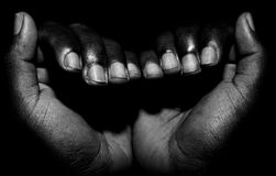 Woman hands black and white Royalty Free Stock Image