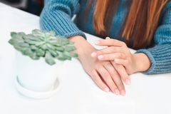 Woman hands care stock image