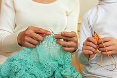 Knittins is a lifestyle family leasure stock image