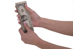 Woman hands with dollar Stock Photo