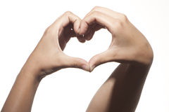 Woman hands forming a heart shape Stock Photo