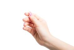 Woman Hands gestures Stock Image