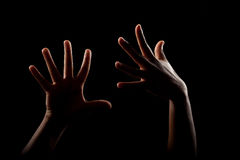 Woman hands stock photography