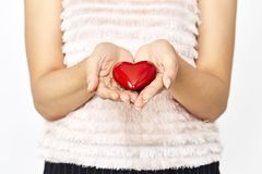 woman hands giving heart love and sharing concept Royalty Free Stock Photography