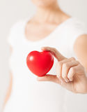 Woman hands with heart Stock Photography