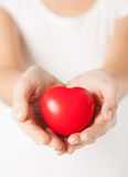 Woman hands with heart Royalty Free Stock Photos