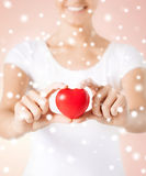 Woman hands with heart. Health, love and charity concept - woman hands with heart Royalty Free Stock Photography