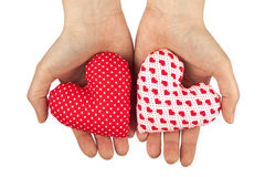 Woman hands and hearts. Valentines Day Royalty Free Stock Photos