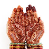 Woman hands with henna design Royalty Free Stock Photography