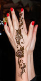 Woman hands with henna tattoo Royalty Free Stock Photography