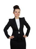Woman with hands on hips Stock Image