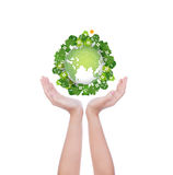 Woman hands  hold eco friendly Royalty Free Stock Image