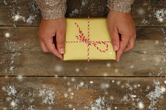 Woman hands holding Christmas presents Stock Image