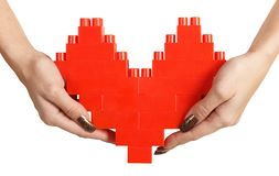 Woman hands holding heart Royalty Free Stock Photography